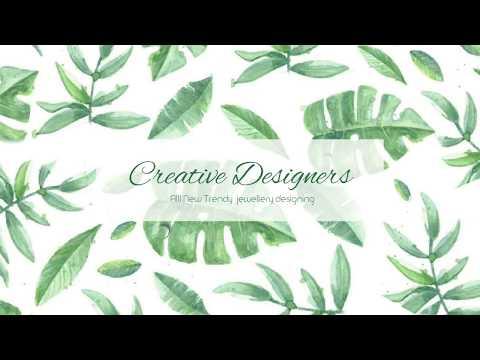 All New Trendy Jewellery Designing And Tutorials - Creative Designers Bangalore
