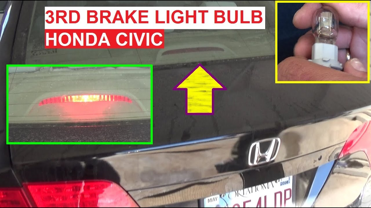 2012 Honda Civic Rear Light Fuse Circuit Diagram Symbols Odyssey Box Third Brake Bulb Replacement On 2006 2007 2008 Rh Youtube Com