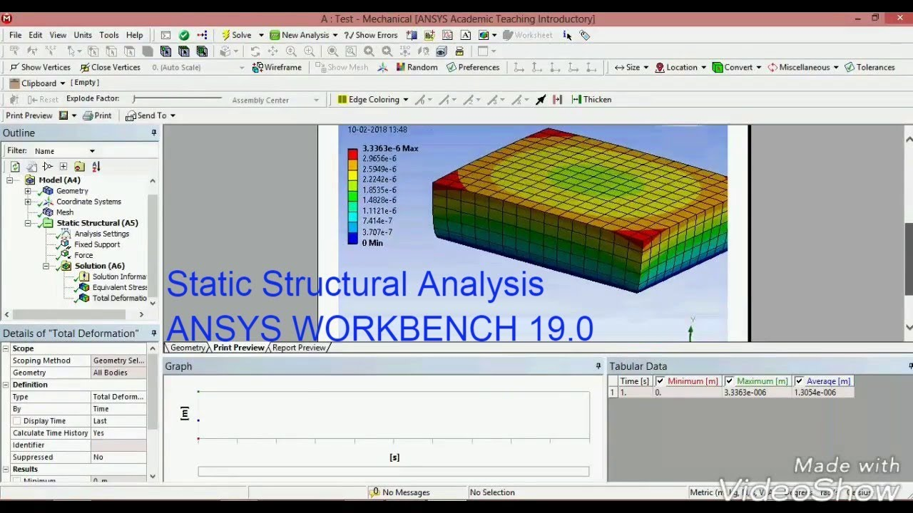 Static Structural Analysis || Ansys 19 0 Workbench Analysis || Ansys 18 1  Workbench || Tutorial