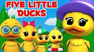 Gambar cover Lima bebek kecil | Lagu sajak anak-anak | Lagu anak-anak | Preschool Rhymes | Five Little Ducks