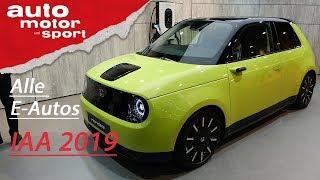 Die kann man JETZT kaufen! - E-Auto Neuheiten - IAA 2019 I auto motor und sport