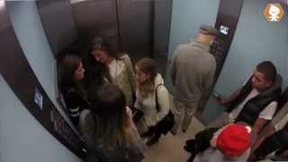Bad Grandpa In A Lift Prank