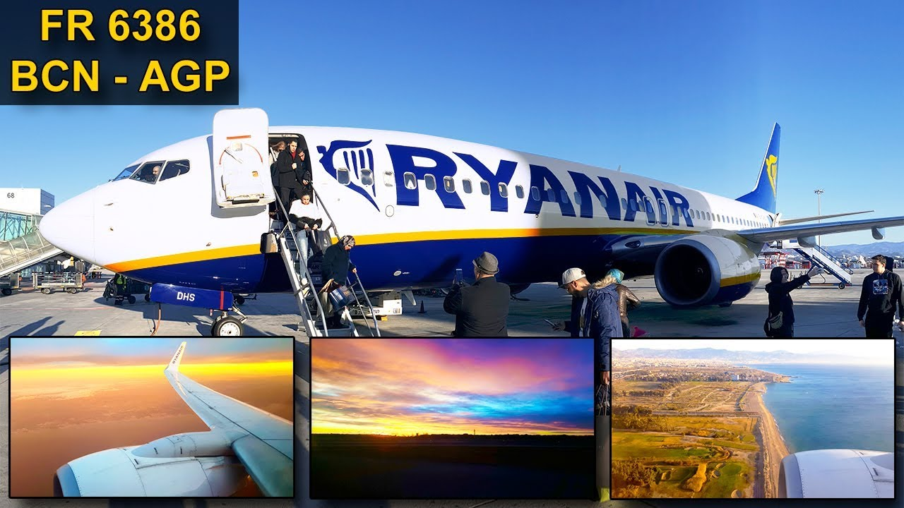 TRIP REPORT | Ryanair | BARCELONA - MALAGA | Epic Sunrise Flight | Boeing 737 - YouTube