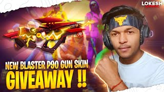 Free Fire Live Tune Blaster P90 Gun Skin And 3,00,000 Diamonds Giveaway Garena Free Fire