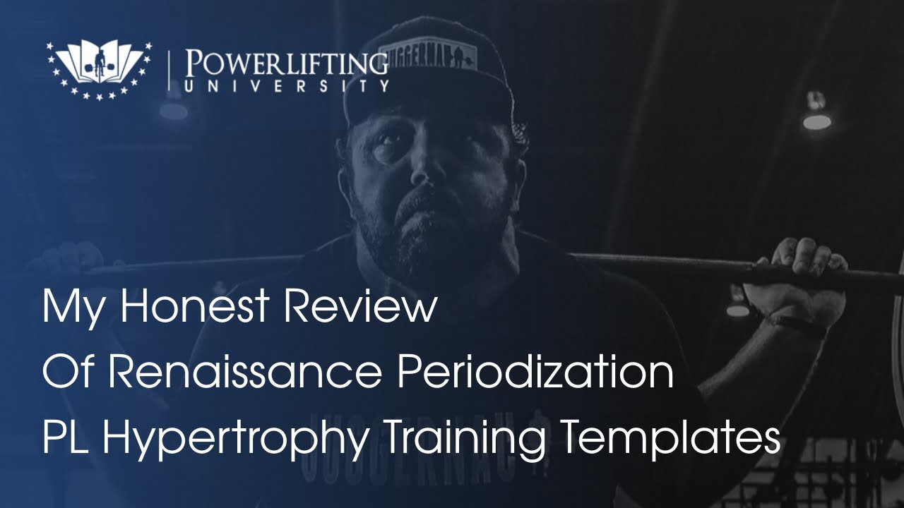 Renaissance Periodization PL Hypertrophy Templates - YouTube