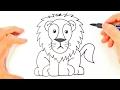 Cómo dibujar un León para niños | Dibujo de León paso a paso