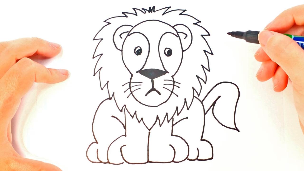 Cómo dibujar un León para niños | Dibujo de León paso a paso - YouTube
