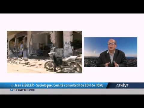 Jean Ziegler demande la levée du blocus de Gaza - TV5MONDE - 14 aout 2014
