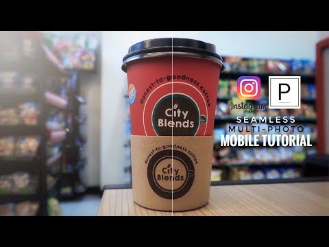 How To Split Photos For Instagram Using Your Phone (seamless Multi-post)
