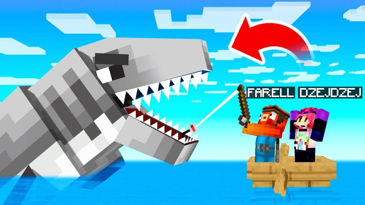 Złapałem MEGALODONA Największego POTWORA MORSKIEGO w Minecraft!