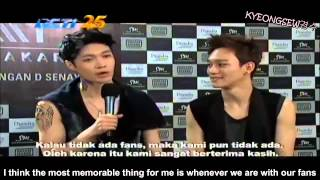 [ENG SUB] 140916 EXO THE LOST PLANET in Jakarta Interview and Ending CUT
