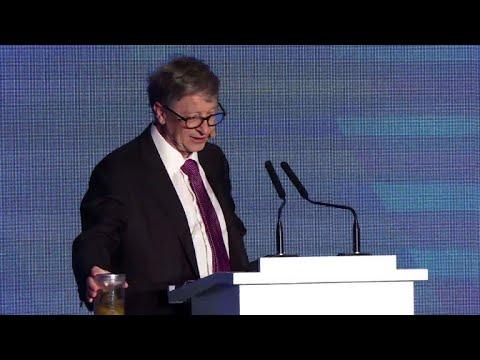 Poop in hand, Bill Gates calls for toilet revolution