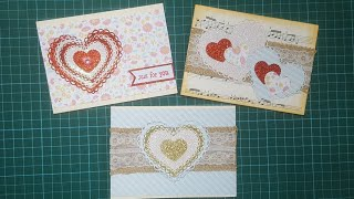 Inloveartshop Heart Nesting Dies cards and process