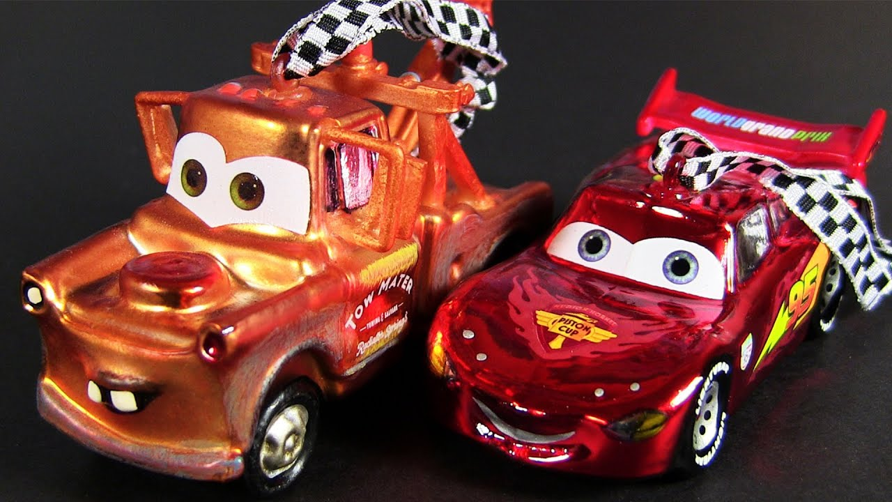 Cars 2 Hallmark Christmas Ornaments Mater and Lightning McQueen ...