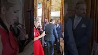 Groom sings to Bride Moyvalley 28.6.18 Ireland