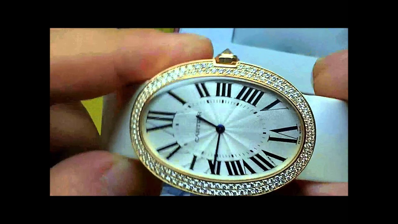 Cartier Baignoire 18kt Rose Gold Large Size Watch Review Youtube