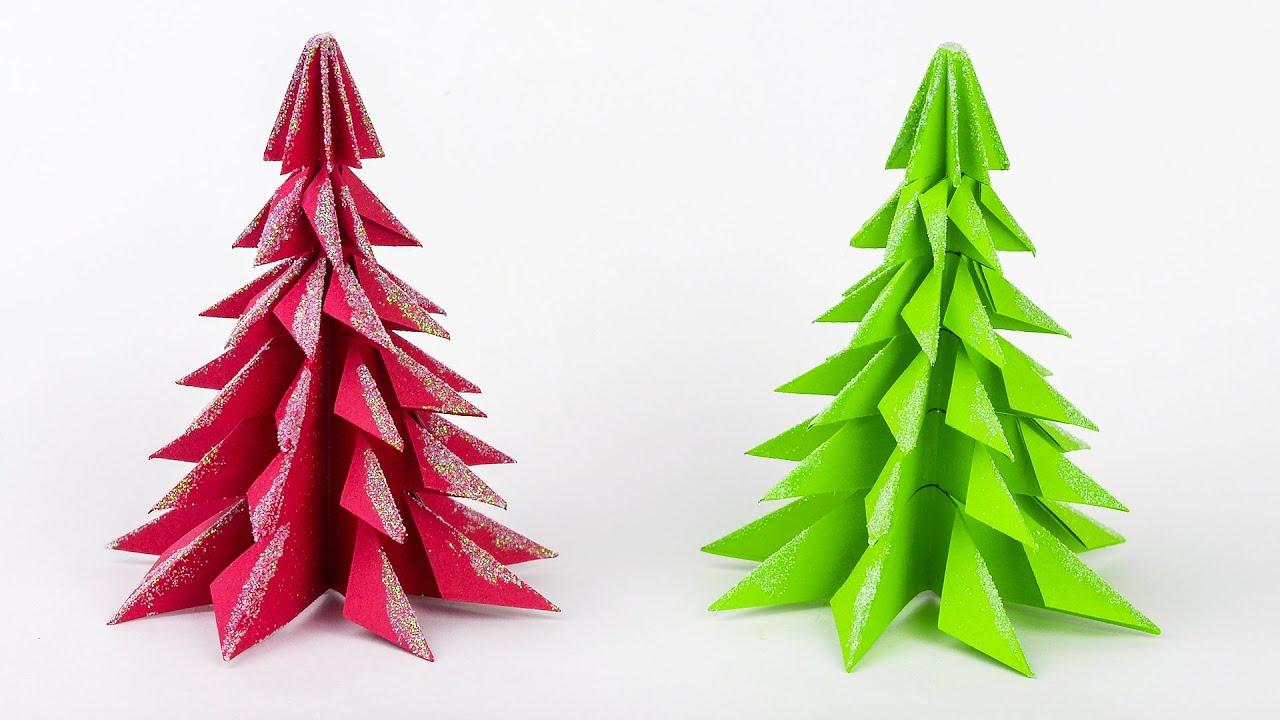 Lavoretti Natale.Albero Di Natale Con La Carta Lavoretti Di Natale Fai Da Te Diy Christmas Craft Youtube
