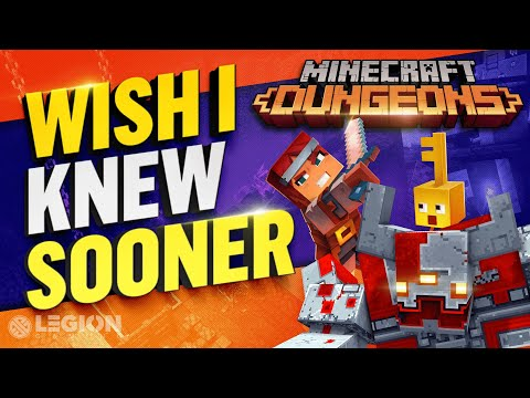 Minecraft Dungeons - Wish I Knew Sooner | Tips, Tricks, & Game Knowledge For Launch