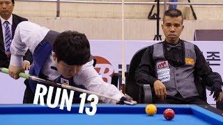 Thần đồng Bida Hàn Quốc, Cho Myung Woo, Run 13