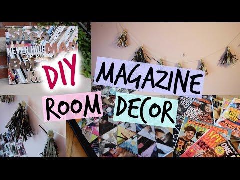 DIY Magazine Room Decor - Tassel Garland, Canvas & Notebook Cover! | Amanda