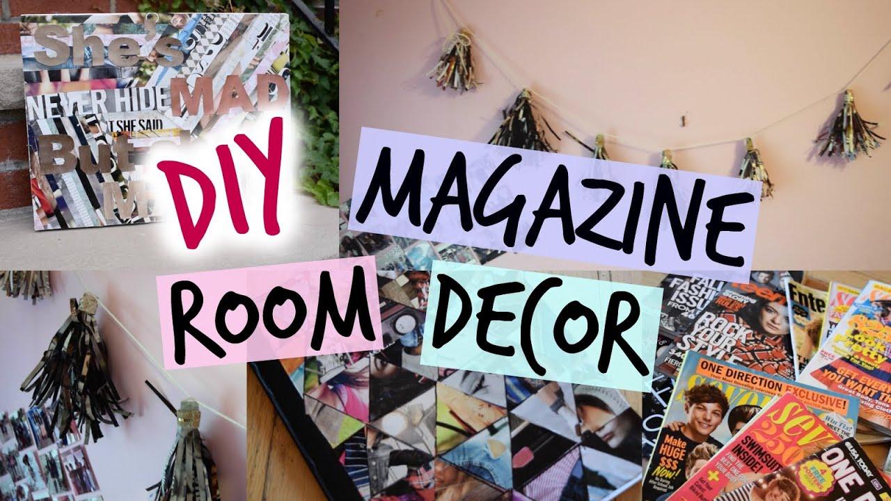 Decor Magazines diy magazine room decor - tassel garland, canvas & notebook cover