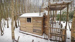 Cabin Life: Snow at the Off Grid Pallet Wood Cabin - Unboxing Mail