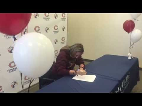 Chaminade softball player Cayman Coughlin signs with Colgate University