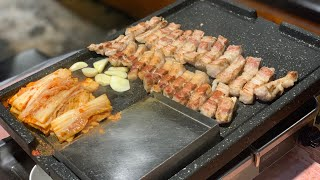 [하남돼지집]하남본점, 고기굽기/ 삼겹살 /korean…