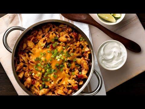 One-Pot Cheesy Chicken Enchilada Pasta | Betty Crocker Recipe