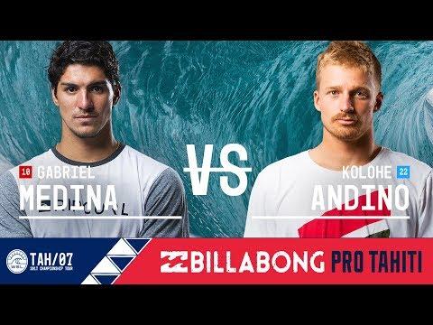 Gabriel Medina vs. Kolohe Andino - Semifinals, Heat 1 - Billabong Pro Tahiti 2017