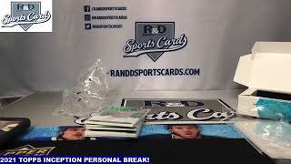 R and D Sports Cards 21 TOPPS INCEPTION PERSONAL BREAK!