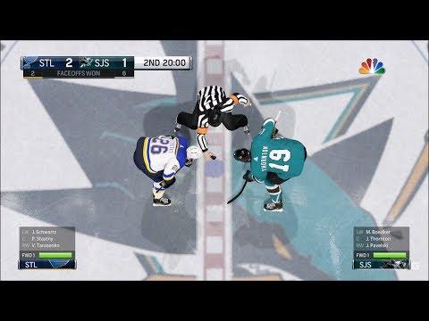 NHL 18 - San Jose Sharks vs St. Louis Blues - Gameplay (HD) [1080p60FPS]