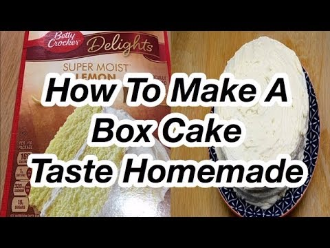 How To Make A  Box Cake Taste Homemade // Boxed Cake Mix Hack