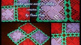 Video crochet square motif for costers , doilies download MP3, 3GP, MP4, WEBM, AVI, FLV Juli 2018