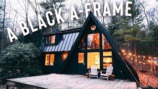 A Black A-frame Airbnb Tour! | A-frame Cabin!