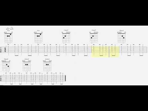 Chord Practice - Am - Cmaj7 - Dsus2 - Asus2