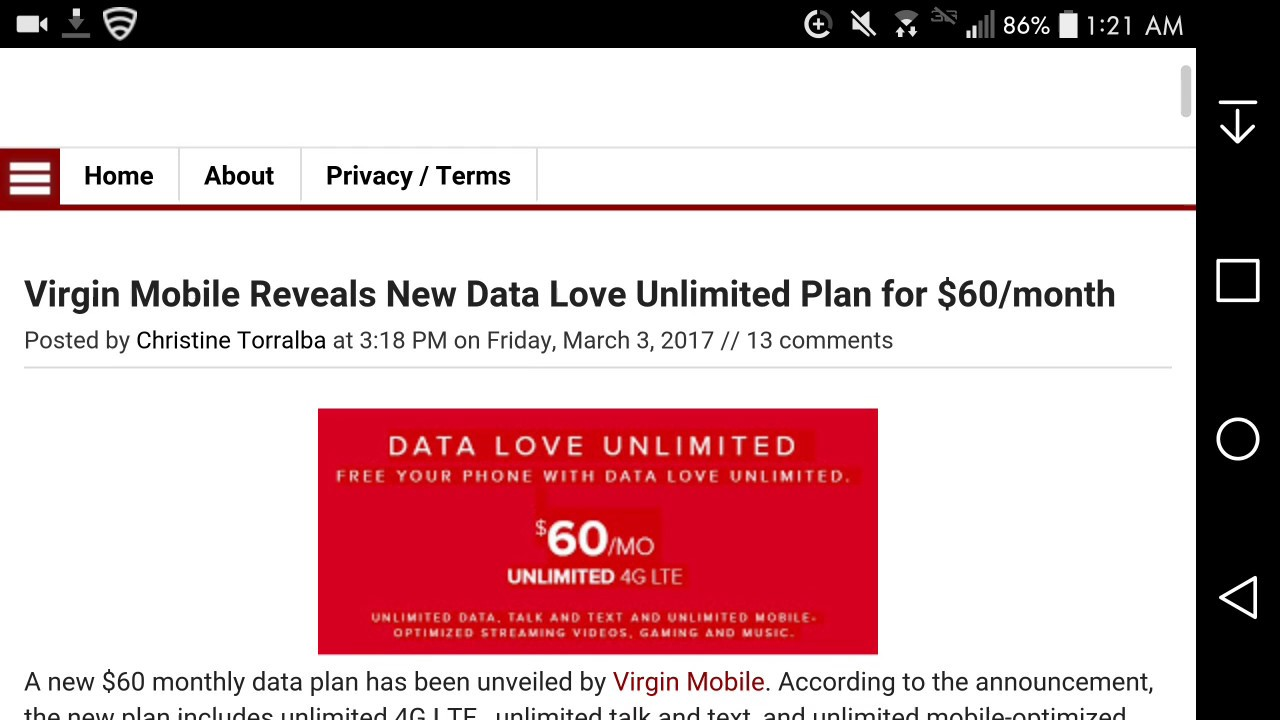 maxresdefault virgin mobile usa now offer unlimited data with its $60 a month,Unlimited Data Plan For Home