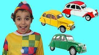 Aprende el color con los coches, videos divertidos para niños