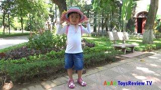 Bé đi chơi sở thú - Bé đi chơi công viên bách thú ❤ AnAn ToysReview TV ❤