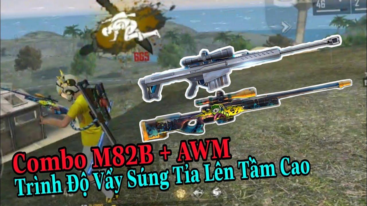 (FREEFIRE) Khi Combo Bá Đạo AWM Kết Hợp M82B Xuất Trận,  Bóp tRÁi Cả Làng Siêu Nhân Vàng.