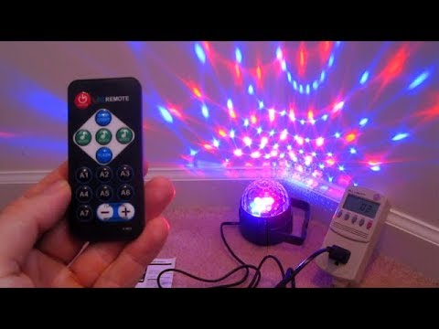 LED flashing light SOUND ACTIVATED Disco Ball REVIEW holiday music game room decoration