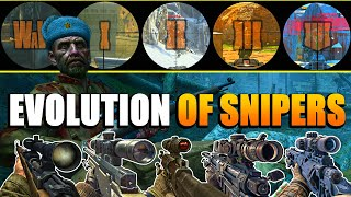 Evolution of Snipers from the CoD Black Ops Series | (WaW-BO4)