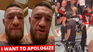 Conor McGregor APOLOGIZES for Dustin Poirier s wife but not in the way you d expect