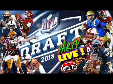 Louie Tee Network 2018 NFL DRAFT PARTY LIVE! 1st Rd React & Analysis....🏈🏈🏈  #LouieTeeLive