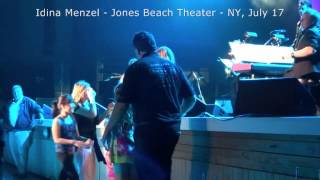 VIDEO 8 Idina Menzel #IdinaWorldTour Jones Beach Theater, July 17, 2015