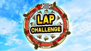 THE LAP CHALLENGE! (Minecraft Skywars)