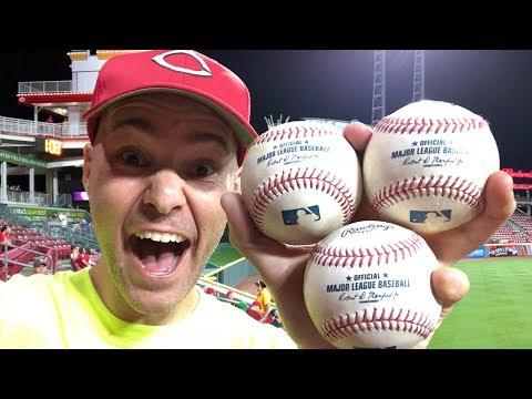Snagging THREE HOME RUN BALLS at Great American Ball Park!!!