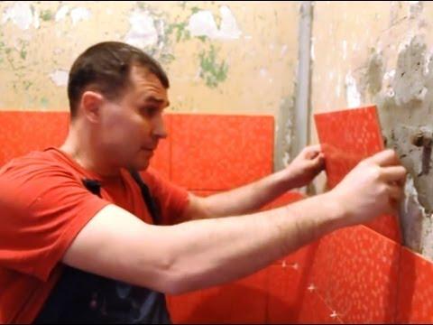 Как правильно приклеить кафельную плитку на стену