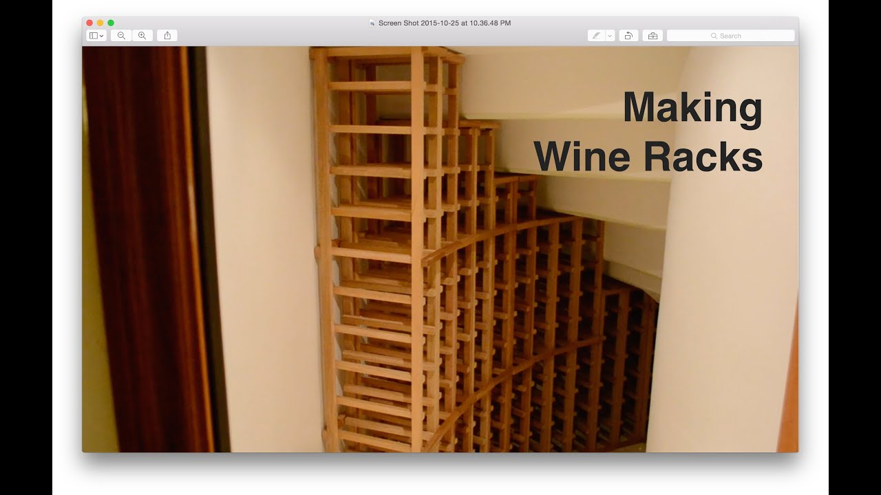 Design Building A Wine Rack making wine racks youtube