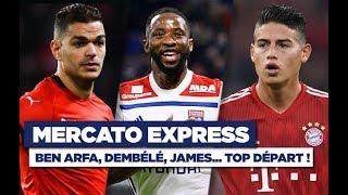 TRANSFERTS : Ben Arfa, Dembélé, Giroud, James ... les infos mercato du 1er janvier